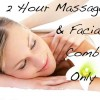 2-Hour Massage and Facial Combo